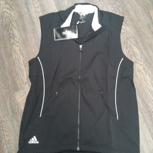 ADIDAS BLACK WINDTOP VEST FULL ZIP