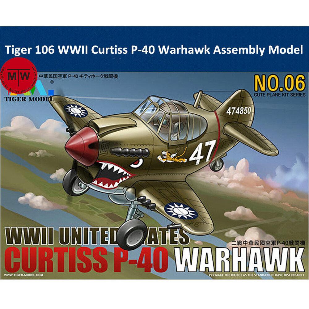 Cute Scale Tiger Model  #106 WWII US//ROC Curtiss P-40 Warhawk