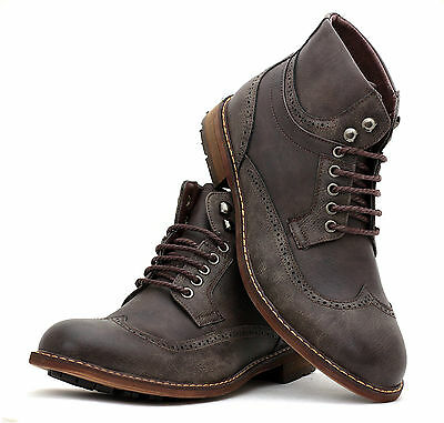 Mens New Winter Casual Lace Up Fashion Boots Ankle Smart Dress Shoes Size UK