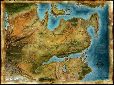 """01 Thedas Map Dragon Age Games Art 32""""x24"""" Poster"""