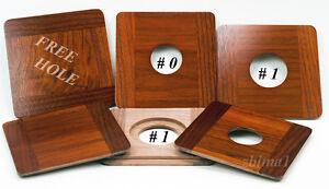 "1 Wooden Lens Board 4.5x4.5""RC for Deardorff, Solid Walnut #0, or #1/ undrilled"