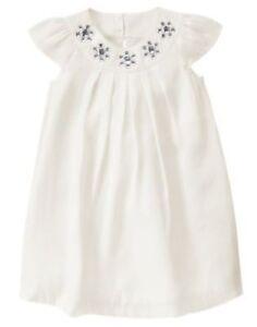GYMBOREE-FAIRY-WISHES-IVORY-GEM-YOKE-SATEEN-DRESSY-DRESS-6-12-NWT