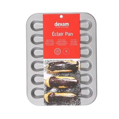 2019 Moda Dexam Antiaderente 12 Tazza Eclair Teglia- Aspetto Bello