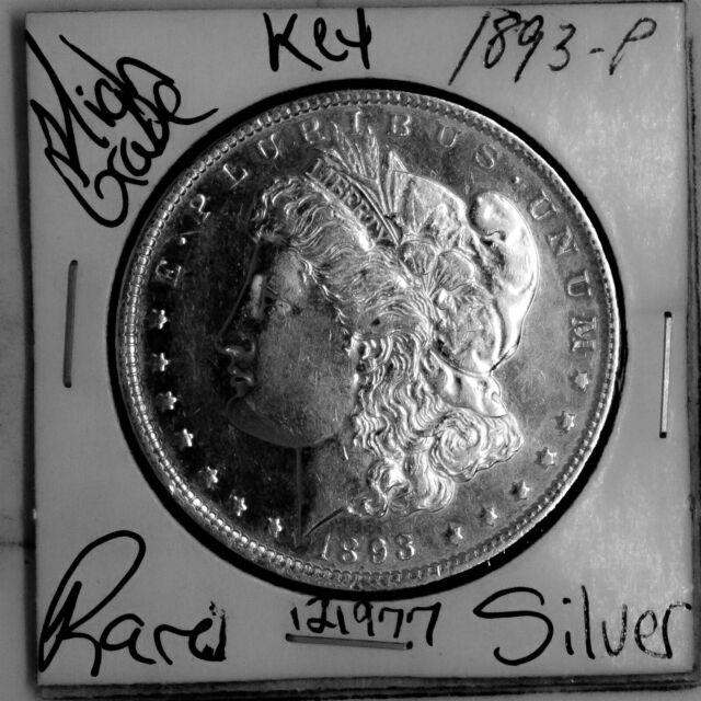 1893 Morgan Silver Dollar HIGH Grade Rare KEY U.S. Coin Free Shipping #121977