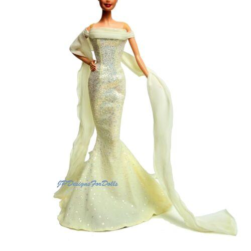 Barbie Pietra Zodiacale PEARL GLITTER dress /& Sheer raccordo di forma Avvolgente Abito Scarpe
