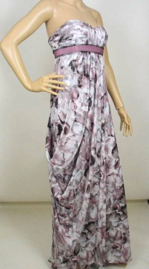 NEW BCBG MAXAZRIA AGATE COMBO STRAPLESS GOWN DRESS 2 UXY6E364
