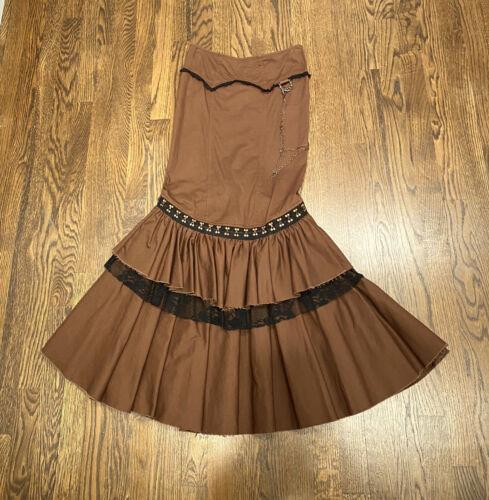 Lip service vintage steampunk maxi skirt+gift