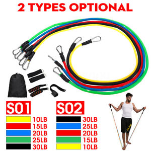 11PCS-Resistance-Exercise-Band-Yoga-Pilates-Abs-Fitness-Tube-Workout-Bands-Train