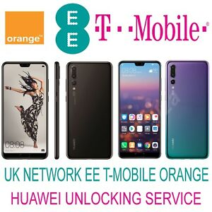 Details about HUAWEI P20 LITE P20 HONOR 7A 7C 7X HONOR 9 LITE MATE 9 UNLOCK  CODE UK EE TMOBILE