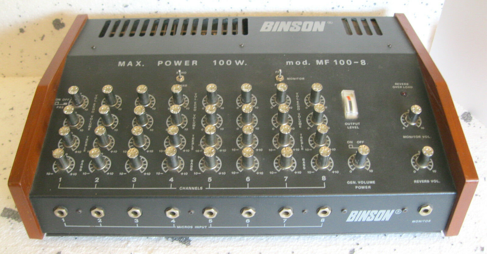 BINSON MF 100-8 (1978) 100-watt 8-channel mixer amplifier - VERY RARE