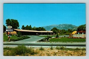 Chrome-View-of-Far-West-Motel-Pool-Kaysville-UT-Postcard-X27