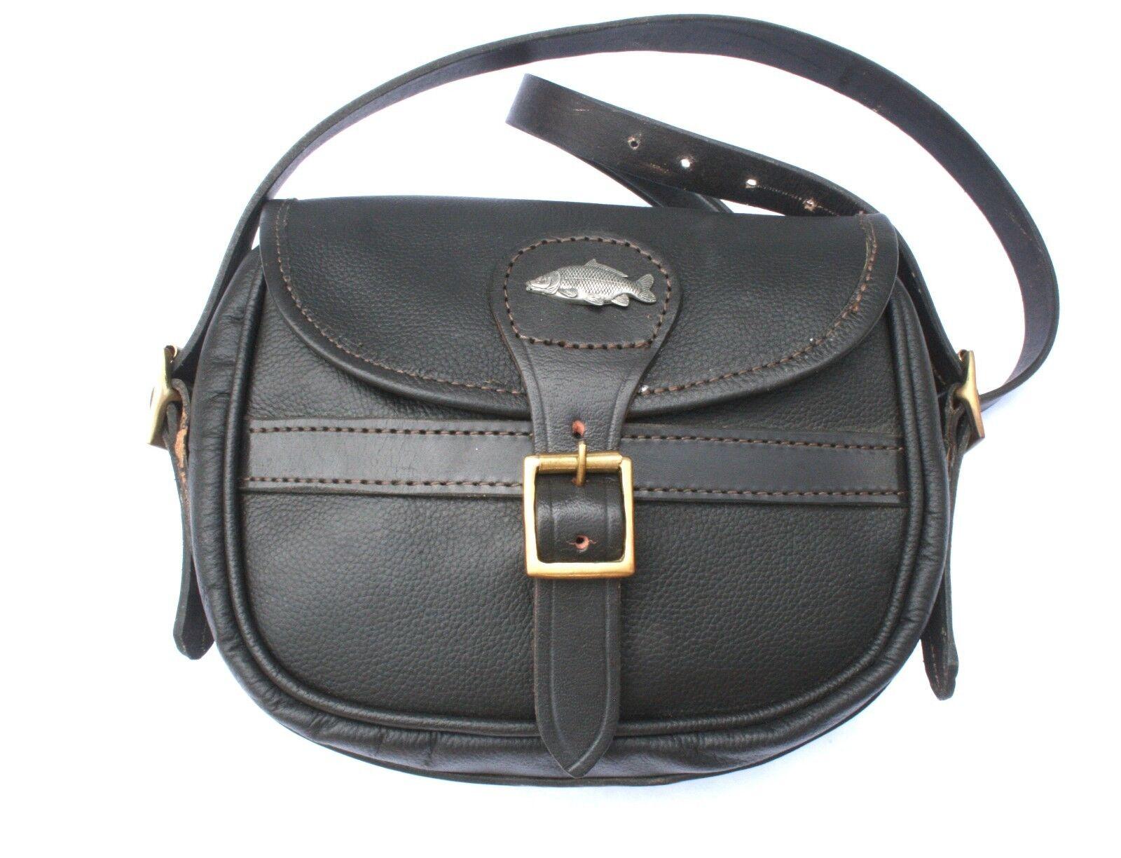 Common Carp Leather Shooting Cartridge Bag 75 Capacity Game Shooting Gift