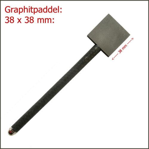 """ca. 38 x 38 mm Graphitpaddel zum Perlenmachen 1.5x1.5/"""" Inch"""