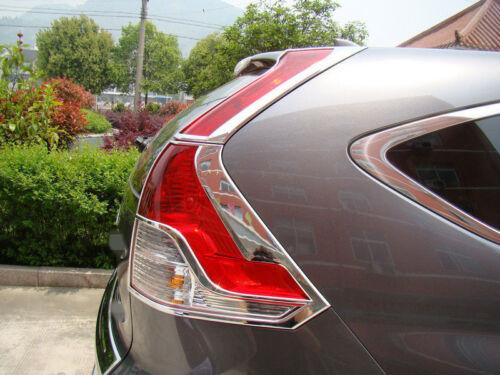 US Ship Chrome Rear Tail Light Lamp Cover Trim 4pcs For Honda CR-V CRV 2012-2014