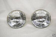 "7"" Halogen 6-Volt Sealed Beam Glass Headlight Head Light Lamp Bulbs Pair 6V"