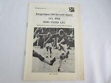 1969-70 Taza De Europa Lyn Oslo V Leeds United