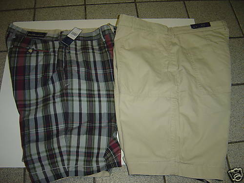 NEW MENS RALPH LAUREN BEIGE-PLAID REVERSIBLE SHORTS SIZE 40
