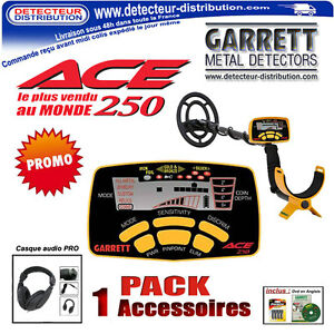 Detecteur-de-metaux-Garrett-Ace-250-Casque-audio-Pro-Sangle-repose-bras