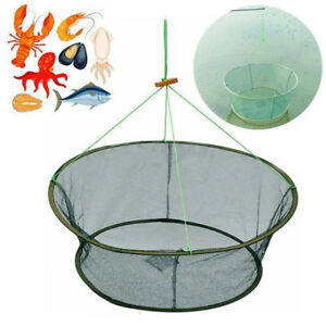 Round-Fishing-Trap-Net-Crab-Cage-Crayfish-Lobster-Automatic-Open-Foldable-Hot