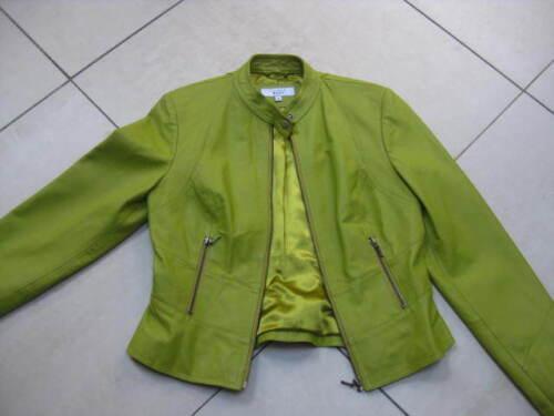 Size Coat Short 8 Uk Jacket Next Cafe Leather Biker Bomber Green Racer 10 Ladies wI4CXqO