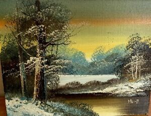 ART-PAINTING-HEINZ-Original-Paint-And-Signature-Landscape-8x10