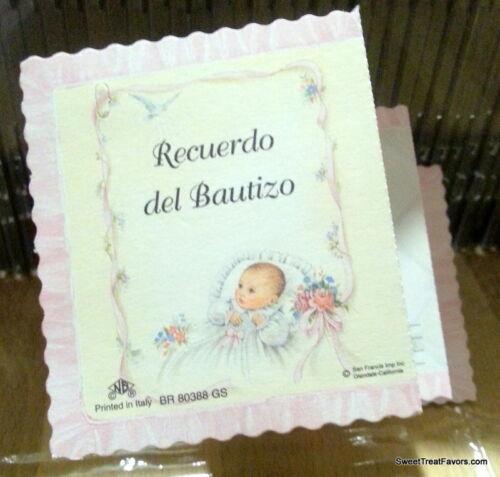 Recuerdos Favors Bautizo English Christening baptism Bolos Party Favor x25 Pink
