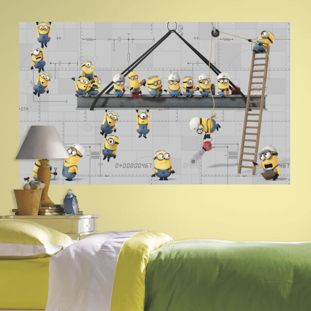 Minions Wall Decal Despicable Me Giant Peel and Stick Mural Stickers Decor NEW