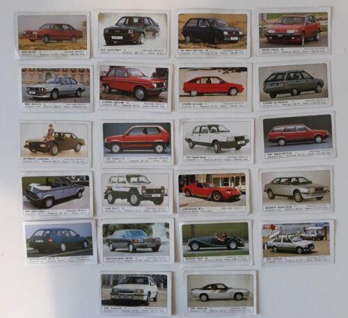 Lote 22 cromos coches Ediciones Unidas (1986) / spanish vintage car cards