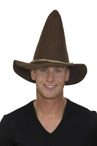 Adult Scarecrow Hat Wizard Of Oz Costume Straw Hair Tattered Pointed Cosplay
