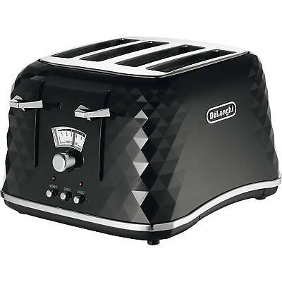 Delonghi CTJ4003.BK Brillante 4 Slice Electronic Control Toaster in Black