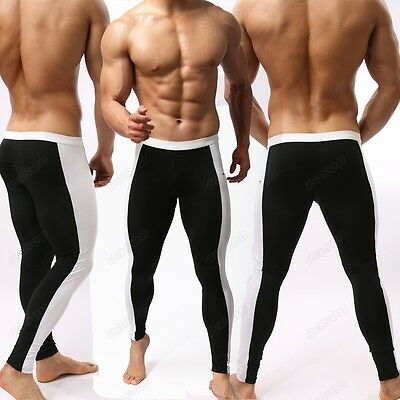 Newest Brand Mens Fashion Sports Fitness Pants Sexy Long Johns Size S M L BJ20