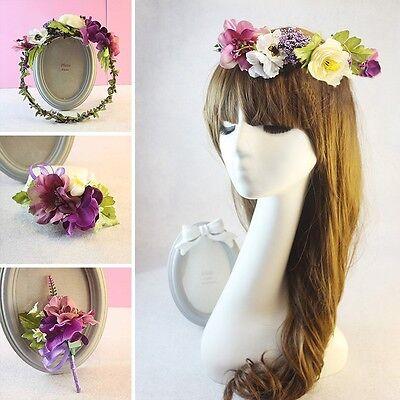 New Bridal Wrist Corsage Boutonniere Garland Bridesmaid Wedding Hair Accessories