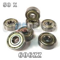 606z 606zz 606 Z 606 Zz Deep Groove Ball Bearing 6mm X 17mm X 6mm 50 Pcs