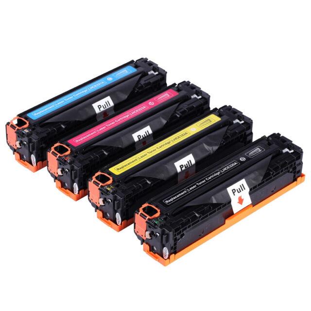 8x HP CE320A-CE323A Toner for Laserjet CM1415fn,CM1415,CP1525nw,CP1525 128A
