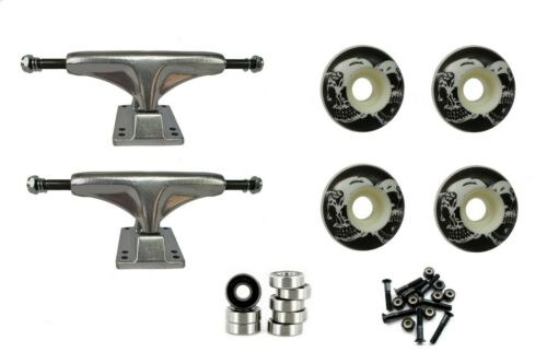 Outrage Skateboard Undercarriage 5 inch Raw Trucks and Reaper Wheels /& Bearings