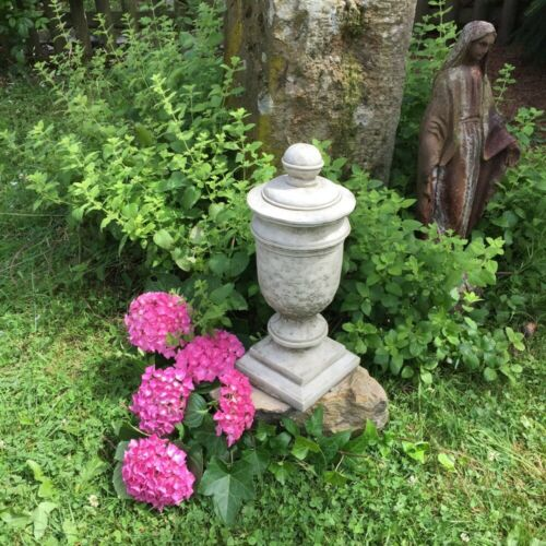 Steinurne pilier Bijoux Tombe-décoration Gartendeko urne amphore de Pierre