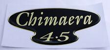 TVR Chimaera 4.5 semicirculares de Gel Negro y Dorado Efecto Autoadhesivo Placa 116x53mm