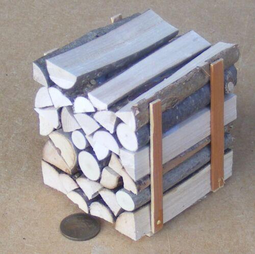 Escala 1:12 Grande pila de registros de Split Fuego Madera Casa De Muñecas Accesorio de jardín BM