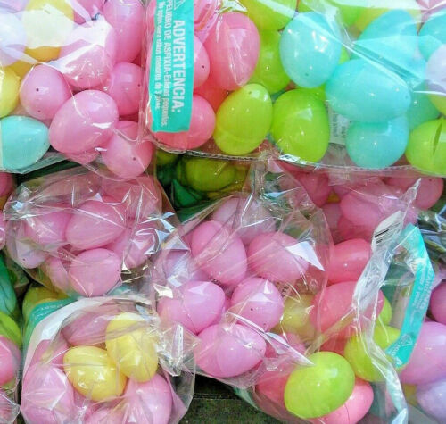 ☆ BEST DEAL ☆ BRAND NEW ☆ 96 Pastel Plastic EASTER EGGS LOT FAST FREE USA SHIP