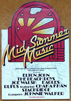 MID SUMMER PROG SIGNED BY PAUL, LINDA McCARTNEY RINGO & NILSSON BEATLES CAIAZZO