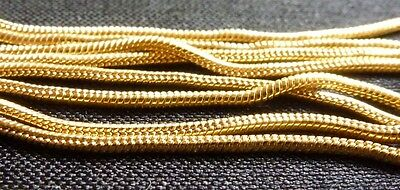 14 Kt Gold filled Snake chain 18 inch 0.9mm finished necklace jewelry
