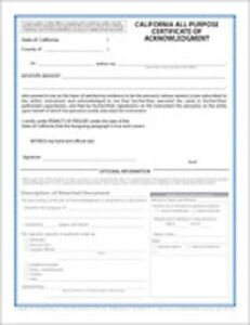 Notary Certificates 2015 California Notary CA JURAT CA ...