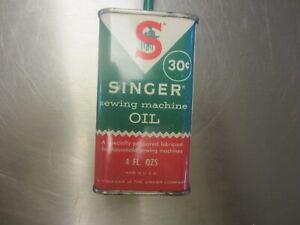 Genuine Vintage Singer Sewing Machine Case//Cabinet Oval Oil Can Holder