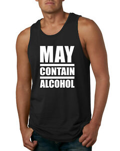 3ceafb8021fd3 May Contain Alcohol Funny Mens Tank Top Drinking Humor Muscle Shirt ...