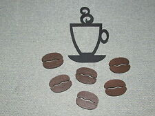 Coffee Cup and Coffee Beans wood Wall Decor Kitchen Art Sign coffee shop