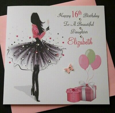 Personalised Birthday Card Daughter Granddaughter Niece Girl For Her 18th 21st..