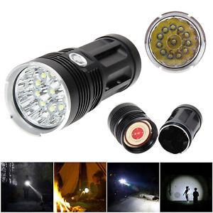 30000LM-SKYRAY-12-x-CREE-XM-L-T6-LED-Hunting-Flashlight-4-x-18650-Torch-Lamp-New