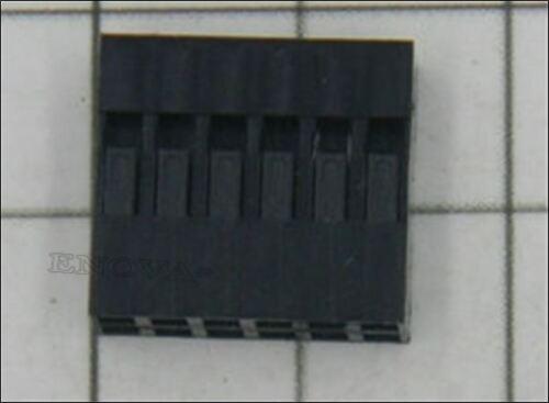50 Stücke Draht Kabel Gehäuse 6 P Dupont Buchse Pin Stecker Pitch 2,54MM Jump rr