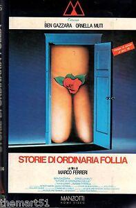 Storie-di-ordinaria-follia-1988-VHS-Manzotti-1a-Ed-Ornella-MUTI-Ben-Gazzara