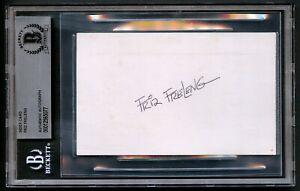 Friz Freleng signed autograph 3x5 Warner Bros. Looney Tunes Cartoonist BAS Slab